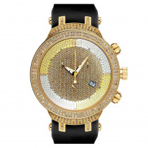 Mens Diamond Joe Rodeo Watch 2.20ct Yellow Gold Master