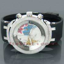 Mens Diamond Watch Joe Rodeo Master Continents 2.20ct