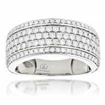 Mens Diamond Wedding Band Designer Ring by Luxurman 1.5ct