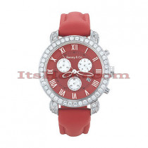 Mens Fine Diamond Watches Benny Co Watch 3ct Red