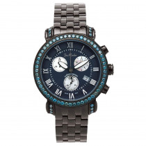 Mens Joe Rodeo Blue Diamond Watch 5.50ct Classic