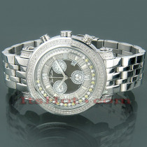 Mens Joe Rodeo Tyler Floating Diamond Watch 1.90ct