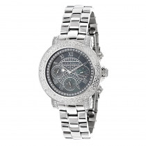 Ladies Diamond Watches by Luxurman 0.3ct Black MOP Montana