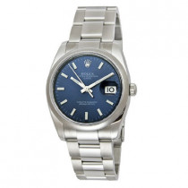 Mens ROLEX Oyster Watch Perpetual Date Blue