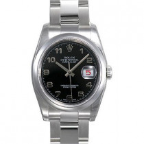 Mens ROLEX Oyster Watch Perpetual Datejust Black