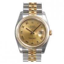 Mens ROLEX Oyster Watch Perpetual Datejust Copper
