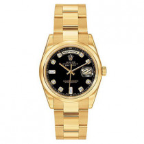 Mens ROLEX Oyster Watch Perpetual Day-Date Diamond