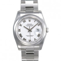 Mens ROLEX Oyster White Perpetual Datejust Watch