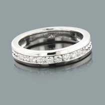 Mens Round Diamond Wedding Band 0.45ct 14K 9 Stone Ring