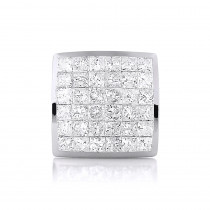 Men's Single Princess Cut Diamond Stud Earring 14K Gold 1ct