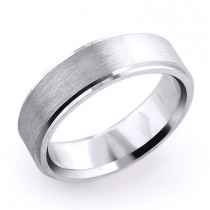Mens Wedding Band 14K Solid Gold