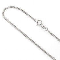Miami White Gold Cuban Link Curb Chain 14K 1.5mm 22-40in