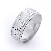 Ornamental Wedding Band for Men 14K Gold