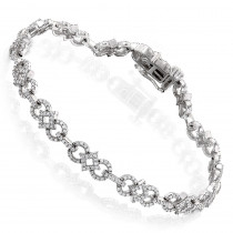 Pave Diamond Bracelet For Women 14k Gold 1.42ct