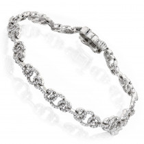 Pave Bracelets 14K Ladies Diamond Circle Bracelet 1.46