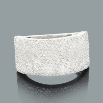 Pave Diamond Ring 1.15ct 14K Gold