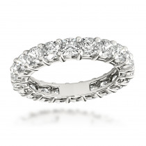 Platinum Cushion Cut Diamond Eternity Band Diamond Anniversary Ring 4ct
