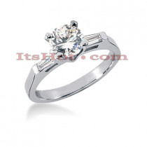 Platinum Diamond Engagement Ring 1.14ct