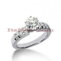 Platinum Diamond Engagement Ring 1.36ct