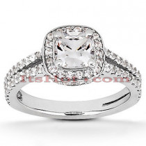 Platinum Diamond Engagement Ring 1.59ct