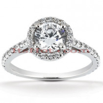 Platinum Diamond Engagement Ring 1.64ct