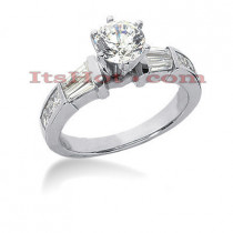 Platinum Diamond Engagement Ring 1.70ct