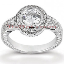 Halo Platinum Diamond Engagement Ring Mounting 0.35ct