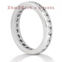 Thin Platinum Diamond Eternity Band 1.25ct