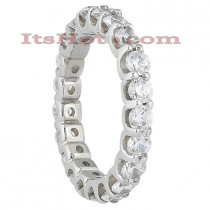 Thin Platinum Diamond Eternity Band 2.10ct
