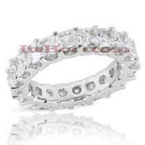 Platinum Diamond Eternity Band 5.40ct