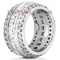 Platinum Diamond Eternity Band 5.68ct
