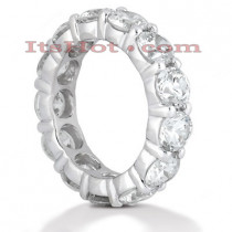 Platinum Diamond Eternity Band 5.85ct