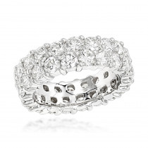 Platinum Diamond Eternity Band 6ct