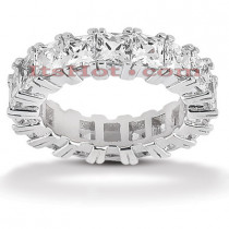 Thin Platinum Diamond Eternity Band 7.20ct