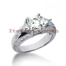 Platinum Diamond Three Stones Engagement Ring 2.45ct