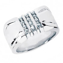 Platinum Men's Diamond Ring 0.48ct