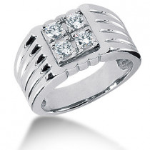 Platinum Men's Diamond Ring 0.60ct