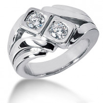 Platinum Men's Diamond Ring 0.80ct