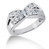 Platinum Men's Diamond Ring 1.21ct
