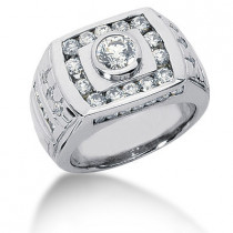 Platinum Men's Diamond Ring 1.86ct