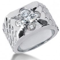 Platinum Men's Diamond Ring 2.30ct