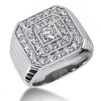 Platinum Mens Diamond Ring 2.99ct