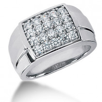 Platinum Men's Diamond Ring 2ct