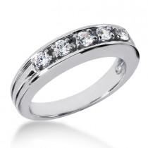 Platinum Men's Diamond Wedding Band 0.60ct