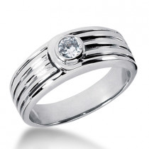 Platinum Men's Diamond Wedding Ring 0.25ct