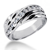 Platinum Men's Diamond Wedding Ring 0.55ct