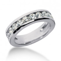 Platinum Men's Diamond Wedding Ring 1.35ct