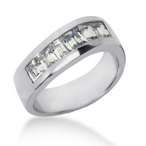 Platinum Men's Diamond Wedding Ring 1.98ct