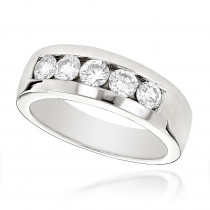 Platinum Men's Diamond Wedding Ring 1ct