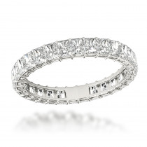 Platinum Radiant Cut Diamond Eternity Band for Women 2ct G/VS by Luxurman